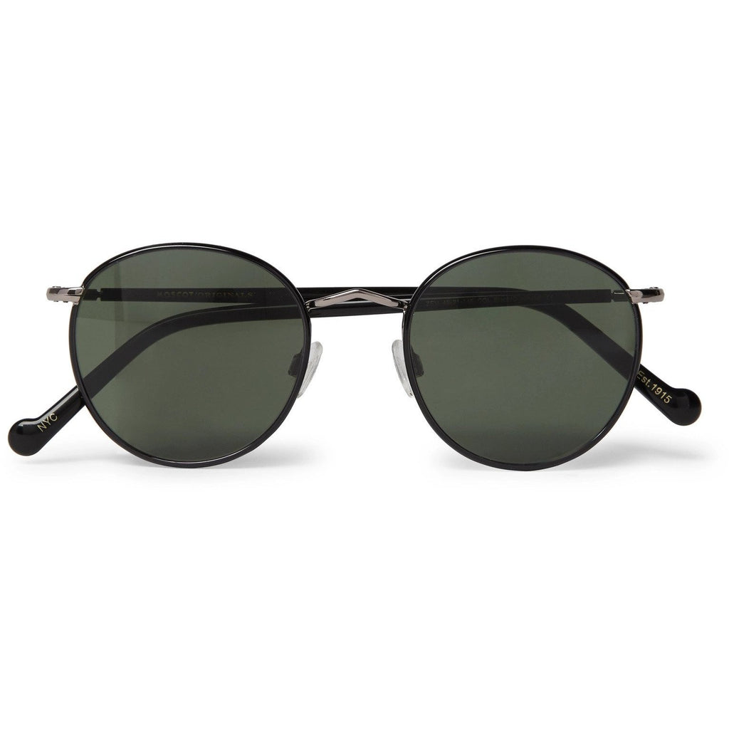 Zev Round-Frame Silver-Tone and Enamel Sunglasses - Alilight.net