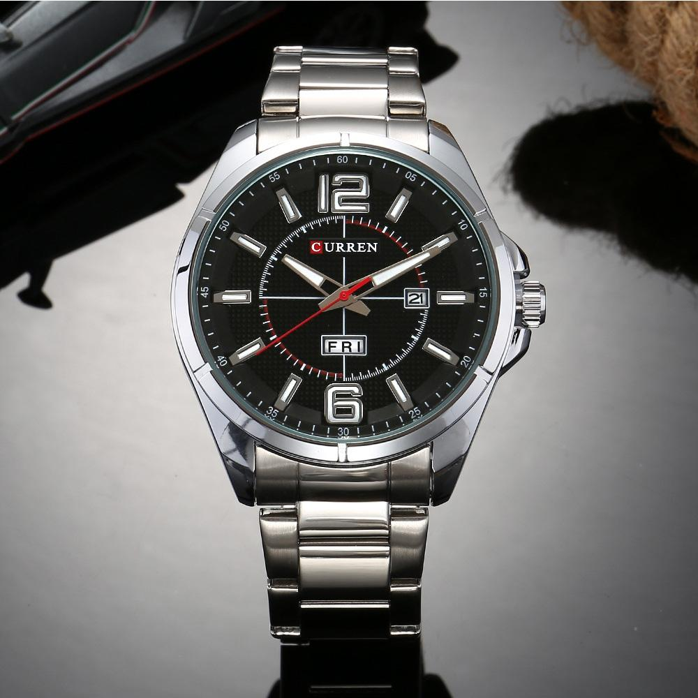 CURREN Men's Luxury Vintage Band Material Type Stainless Steel Sport Quartz Dres - Alilight.net