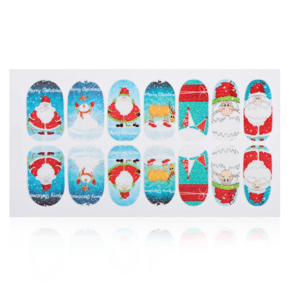 12 Color 3D Stereo Christmas Manicure Jewelry Decal Nail Sticker - Alilight.net