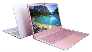 14inch lady pink laptop Windows 10 OS Fast Boot Laptop Notebook Computer - Alilight.net