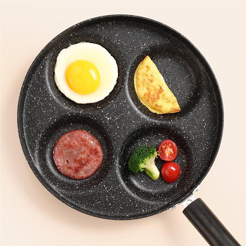 1PC 4 Cup Fried Egg Pan Cookware Pancake Nonstick Frying Pan Egg Cooker - Alilight.net