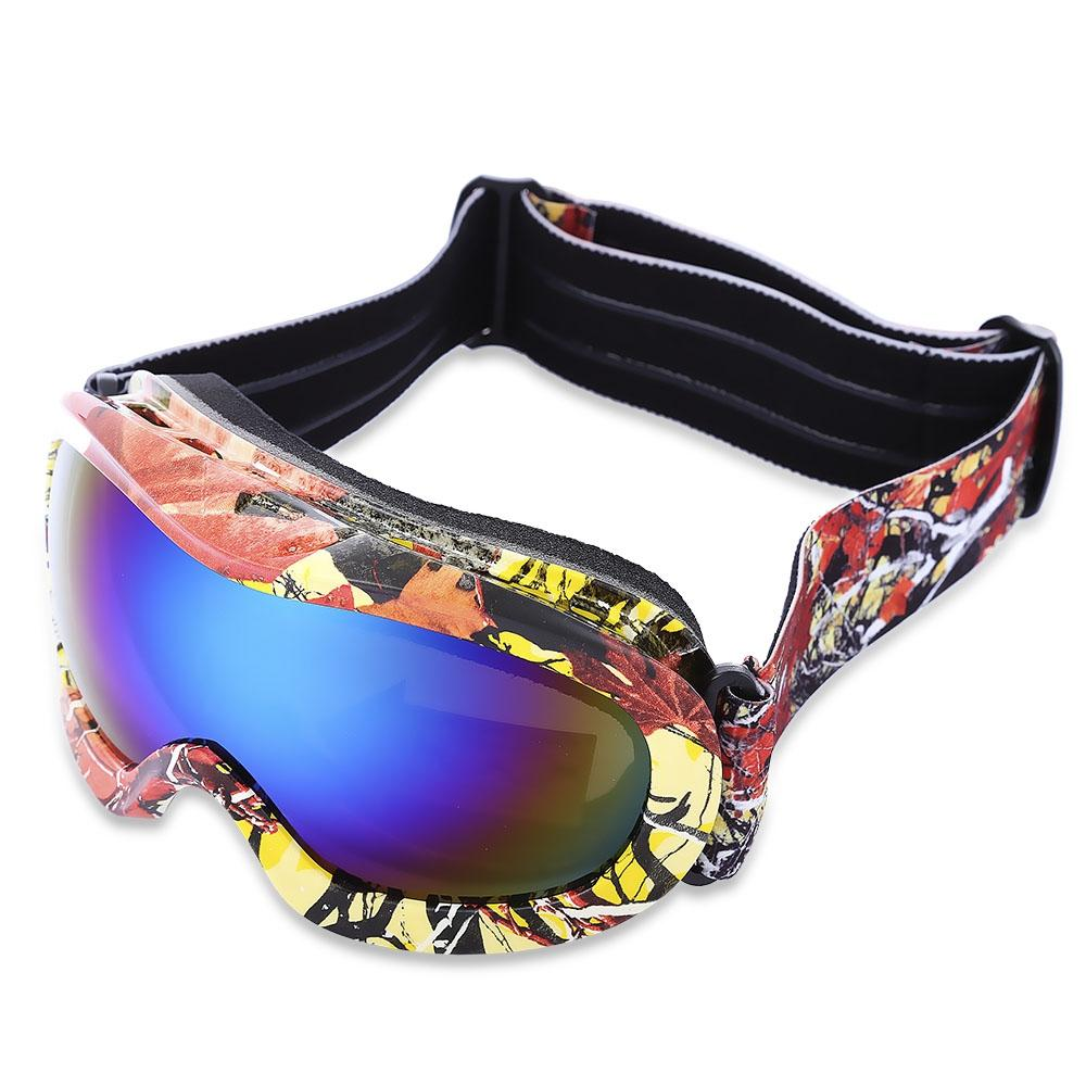 Kid UV Protection Double Anti-fog Lens Spherical Skiing Glasses Snow Goggles - Alilight.net
