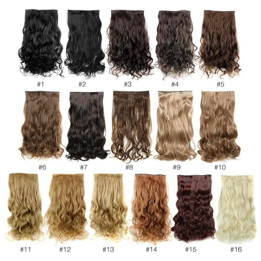 AISI HAIR Fashion Long Curly Synthetic 5 Clips in Wig Extensions - Alilight.net