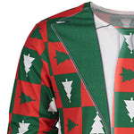 Crew Neck Long Sleeve Christmas T-shirt - Alilight.net