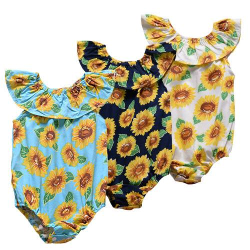 2019 Baby Girl summer  Romper Sunflower Jumpsuit - Alilight.net