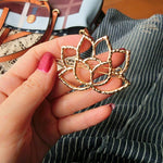 Women's trendy Hair Accessorie Lotus Retro style Hairpin Hair Clips hat Flower Hair add-ons - Alilight.net