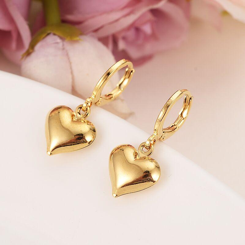 24 k Yellow Solid Gold Filled Lovely Slipper Pendant Necklaces earrings - Alilight.net