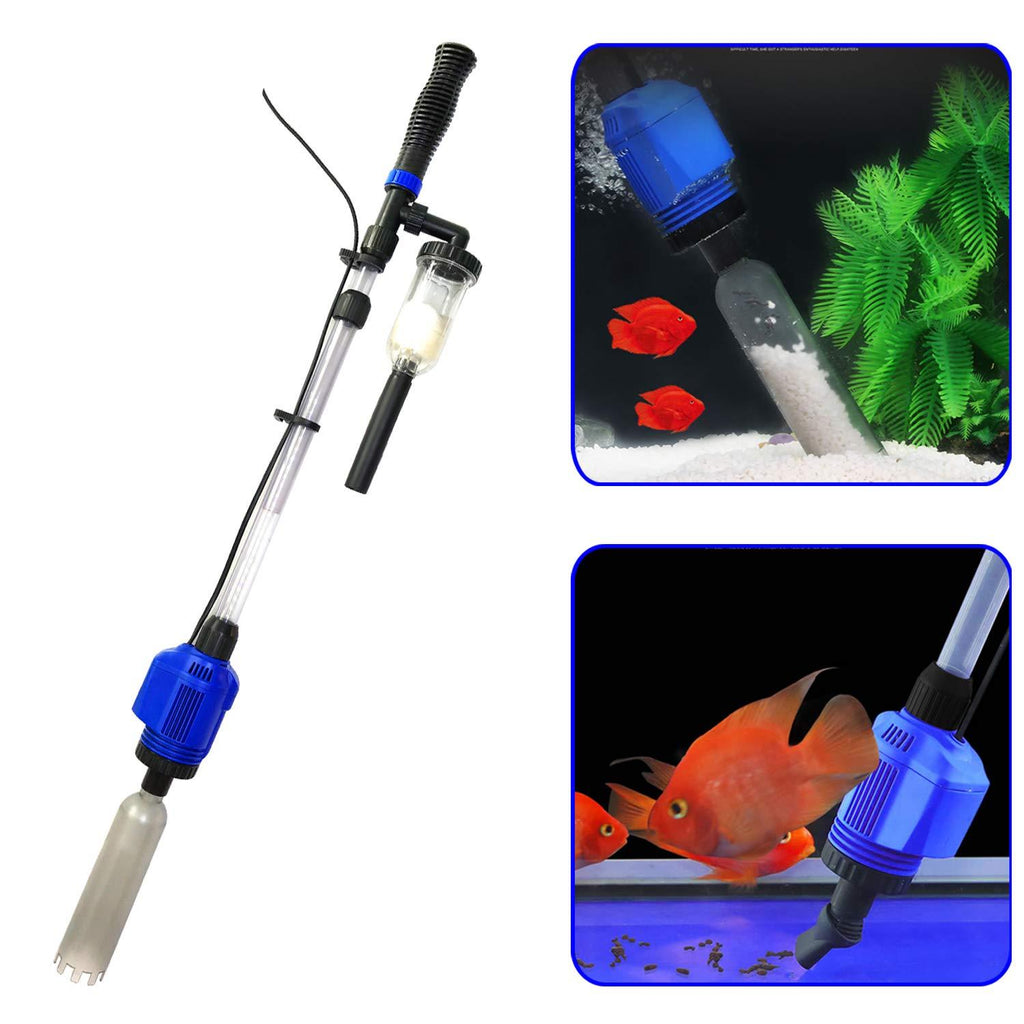 3 in 1 Electric Aquarium Vacuum Gravel Cleaner Automatic Water Changer Sludge - Alilight.net