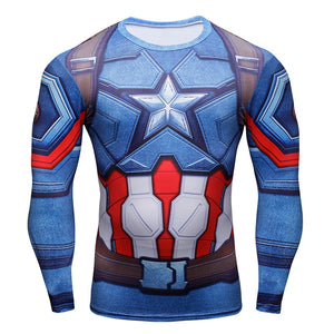 Men's 3D Printed T-shirts Captain America Civil War Tee - Alilight.net