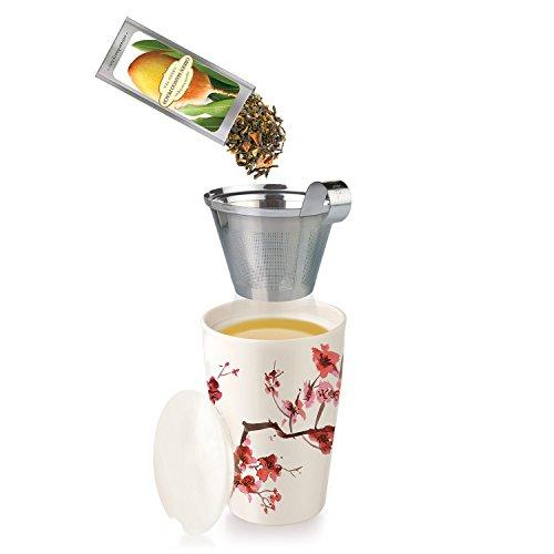 Tea Forte KATI Single Cup Loose Tea Brewing System, Ceramic Cup - Alilight.net
