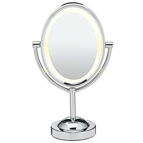 Conair Double-Sided Lighted Makeup Mirror - Lighted Vanity Mirror; 1x/7x magnification; - Alilight.net