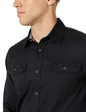 Wrangler Authentics Men's Long-Sleeve Classic Woven Shirt Clothing store - Alilight.net