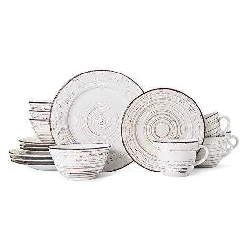 | Pfaltzgraff 5217179 Trellis White 16-Piece Dinnerware Set, Service for 4: Dinnerware Sets - Alilight.net