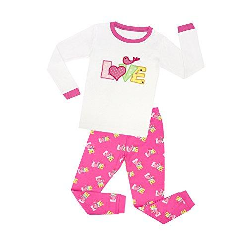 TinaLuLing Girls Matching Doll&Toddler Cat Cotton Snug Fit Pajamas Clothing - Alilight.net