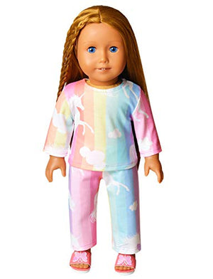 Pajamas Pjs Set Fits American Girl: Clothing - Alilight.net