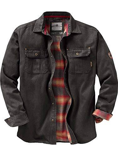 Legendary Whitetails Men's Journeyman Flannel Lined Rugged Shirt Jacket - Alilight.net