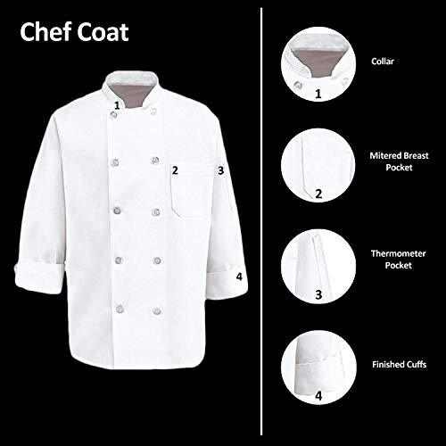 350 Chef Apparel Pearl Buttons Chef Coat-Easy-Care Twill Chef Jacket for men: Clothing - Alilight.net