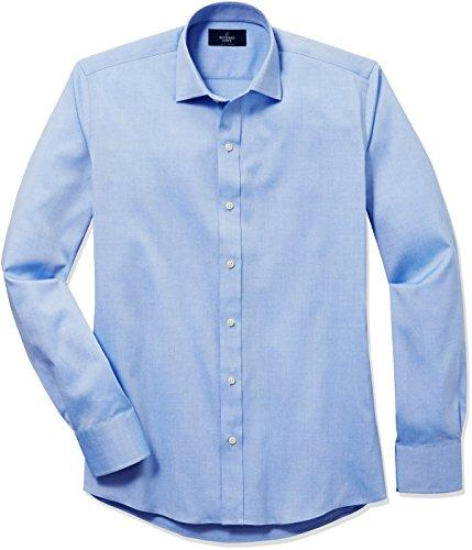 Men's Slim Fit Spread-Collar Solid Pinpoint Non-Iron Dress Shirt: Clothing - Alilight.net