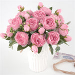 5 Big Heads/Bouquet Peonies Artificial Flowers Silk Peonies - Alilight.net