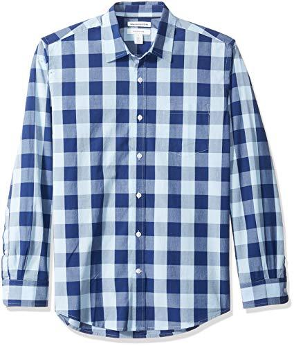 Men's Regular-Fit Long-Sleeve Casual Poplin Shirt: Clothing - Alilight.net