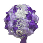 Artificial Wedding Bouquets Hand Made Flower Rhinestone Bridesmaid Crystal Bridal Wedding Bouquet - Alilight.net