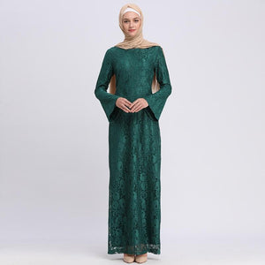 Abaya Dubai Islam Qatar Arabic Lace Muslim Hijab Dress - Alilight.net