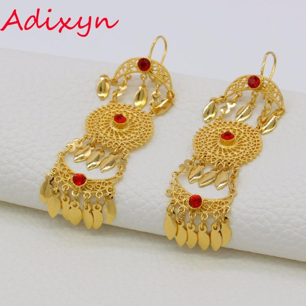Adixyn Ethiopian Gold Drop Earrings - Alilight.net