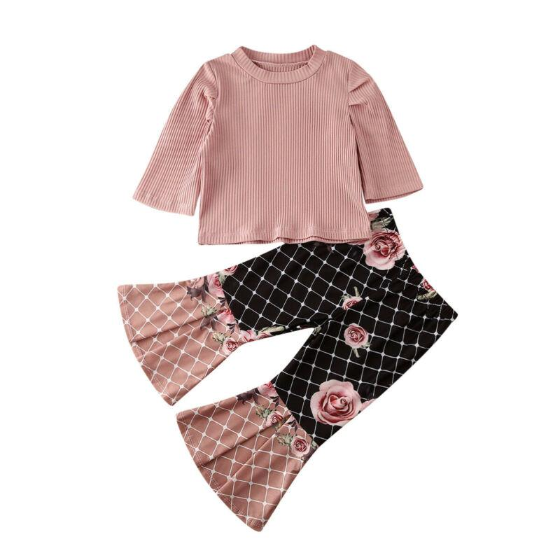 Autumn Elegant Baby Girl Clothes Sets Ruffle Long Sleeve - Alilight.net
