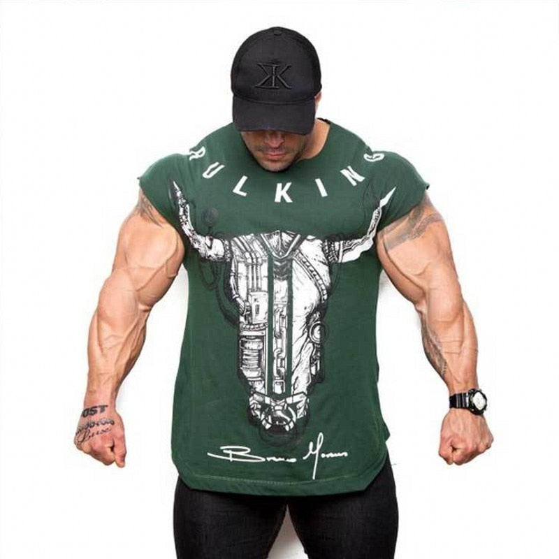BULKING Brand Men Top Tees Casual Workout Wear - Alilight.net