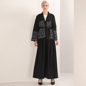 Black Abaya Robe Dubai Turkey Hijab Muslim Dress Kaftan Abayas - Alilight.net