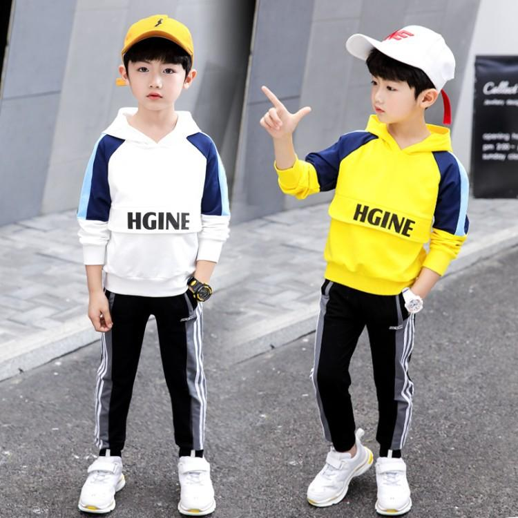 Boys 2019 new striped spring and autumn suit set boy sports and leisure - Alilight.net