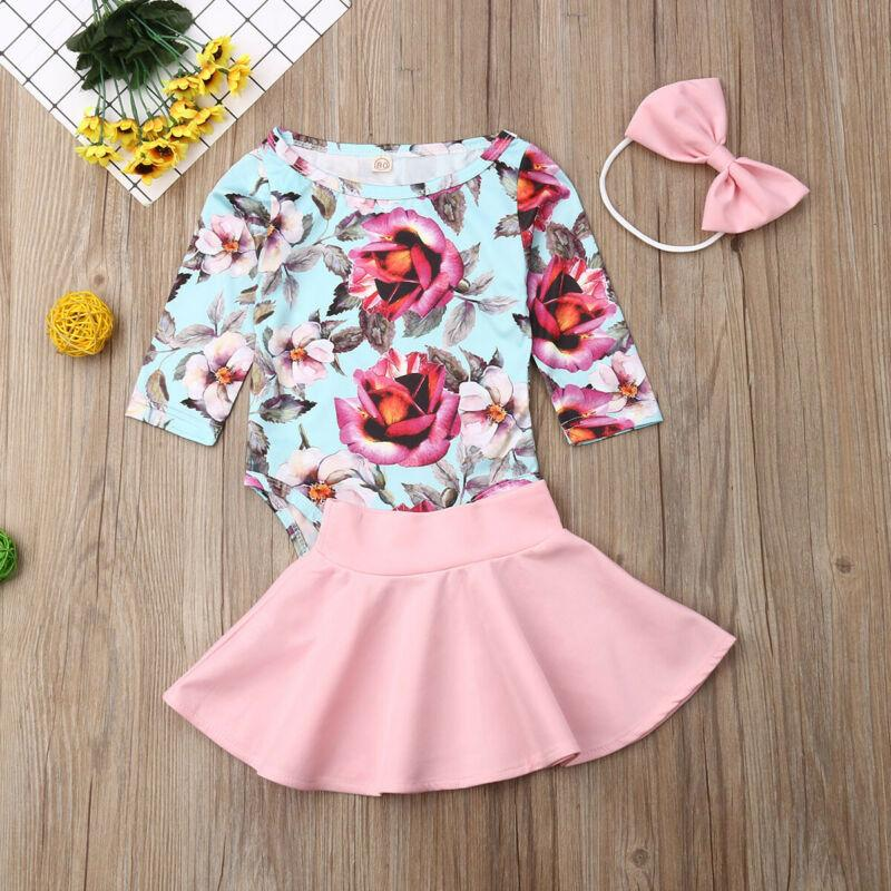 3PCS Autumn Toddler Baby Girl Kid Tops Long Sleeve Floral - Alilight.net