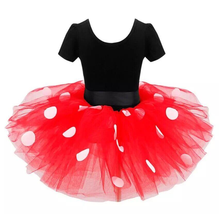 Girls  Cosplay Minnie Mouse dot tutu dress headbands - Alilight.net