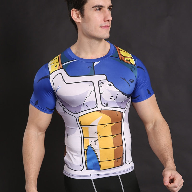 Dragon ball shirt Vegeta Cosplay Anime clothing - Alilight.net