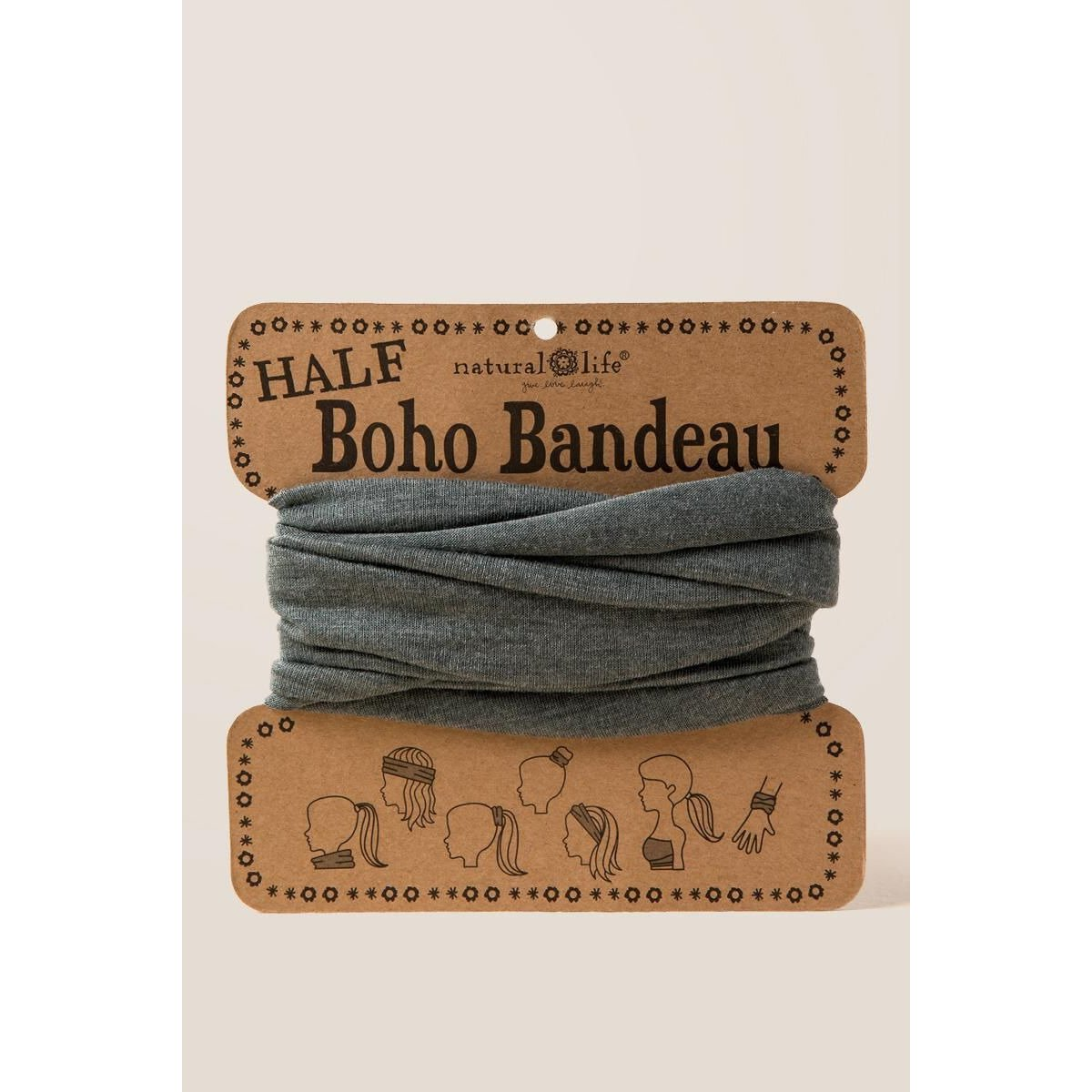 Half Boho Bandeau by Natural Life in Vintage Olive - Alilight.net