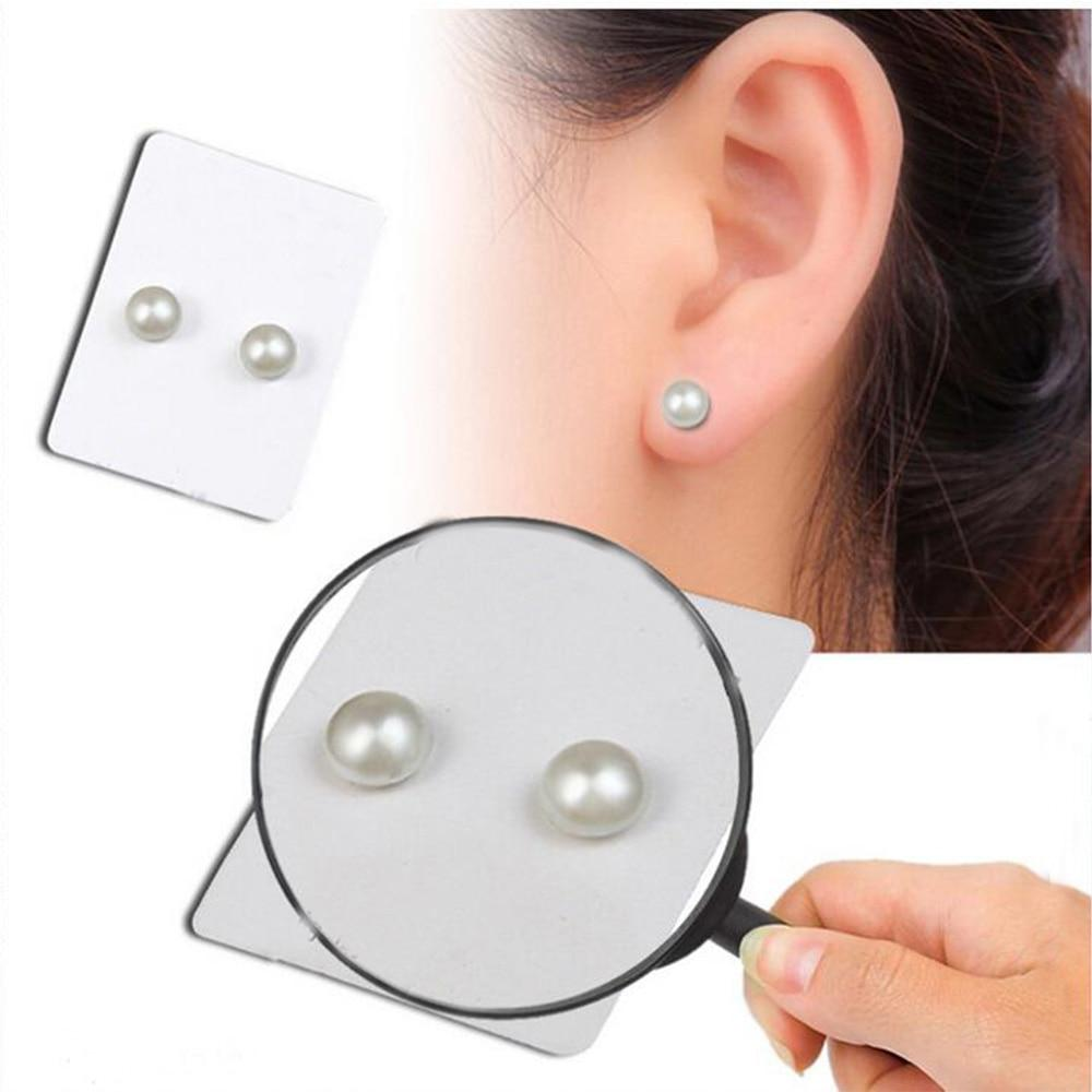 Magnet Magnetic Ear Stud One Pair Fashion Non Piercing Clip Stud Earrings Lover - Alilight.net