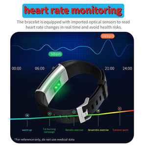 Fitness Bracelet Pressure Measurement Tracker Pedometer Smart Band - Alilight.net