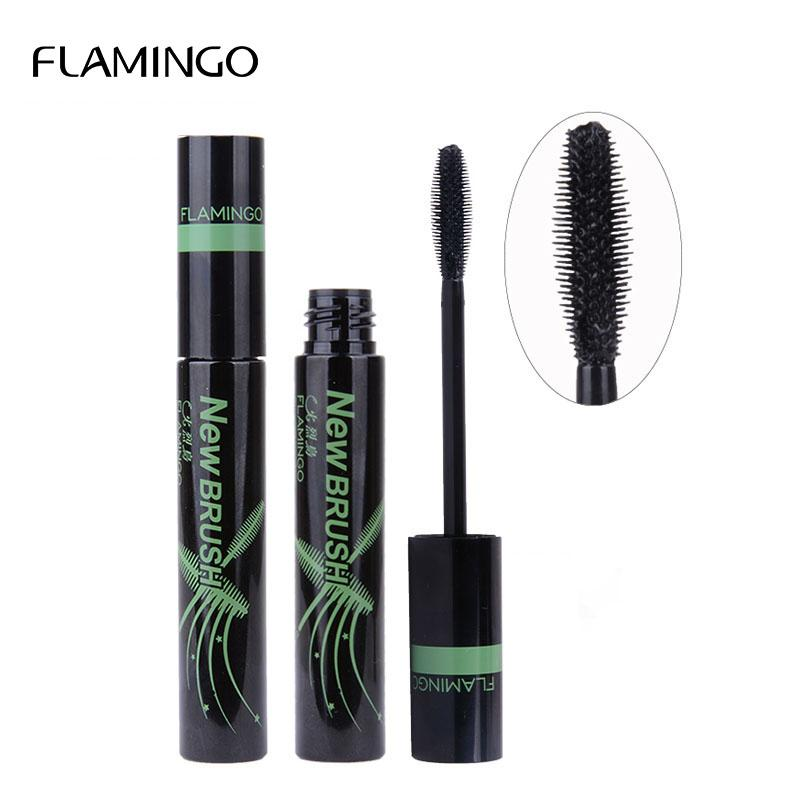 Flamingo Mascara Eye Cosmetics Waterproof Black Color Thick Cute - Alilight.net