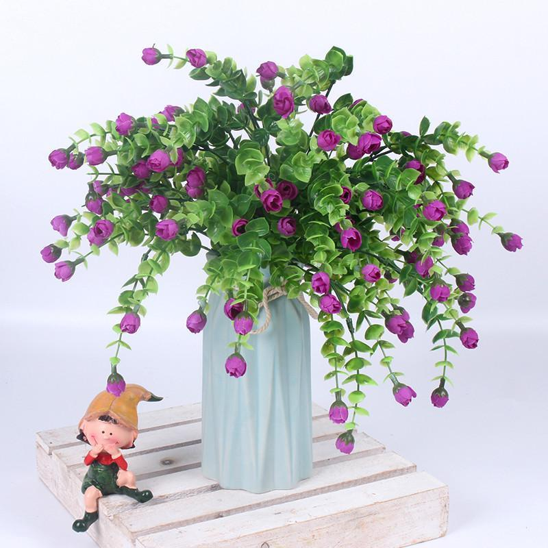 HI-Q tiny rosy color synthetic Flower 30 Heads Silk flowers 6 color - Alilight.net
