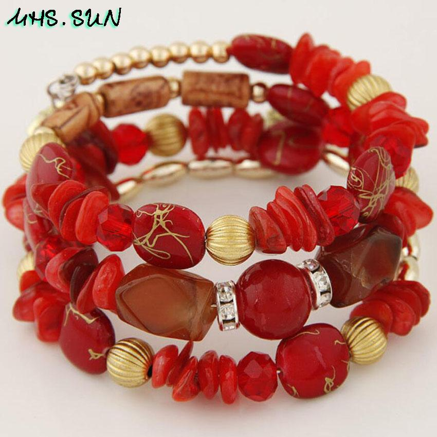 Shell Bracelets Charm Ethnic Jewelry Bracelets  Party Gift - Alilight.net
