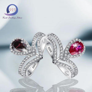 Gemstone Promise Engagement Wedding Ring - Alilight.net