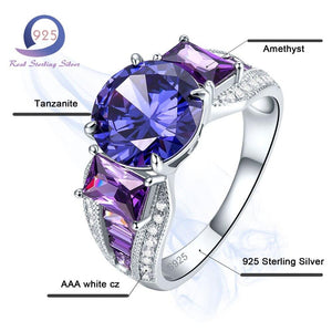 Women's 925 Sterling Silver with Lab-Created Gemstone - Alilight.net