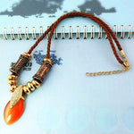 Chokers Necklaces Gemstone set created diamonds - Alilight.net