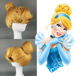 Women's Cinderella Costume Adult Fairytale Princess Blonde Short Curly - Alilight.net