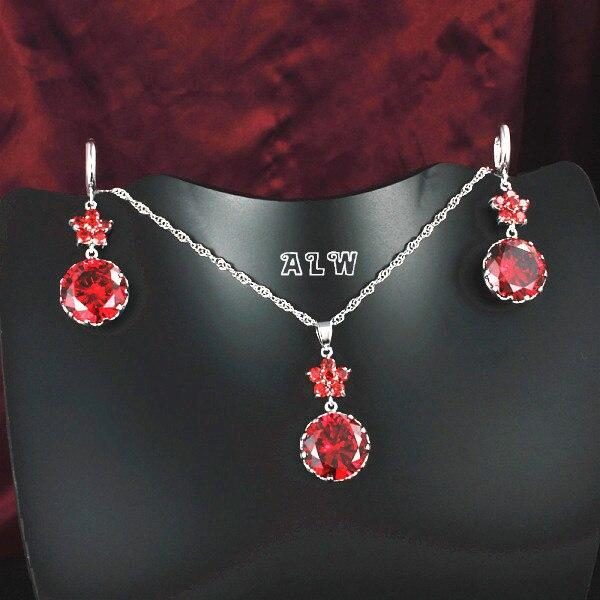 Jewelry Sets Women Necklace&Earrings 3 colors option - Alilight.net