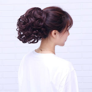 Horsetail short curly hair clip type big wave curly hair ponytail natural realistic - Alilight.net