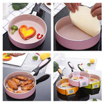 16cm non-stick frying pan egg omelette pot baby food - Alilight.net