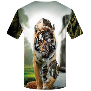 Tiger Animal 3d  T-shirt - Alilight.net