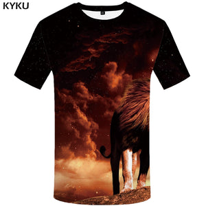 Men Tiger T shirt Animal 3d T-shirt Punk Print Shirts Gothic - Alilight.net
