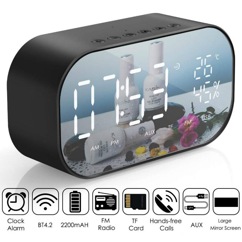 LED Alarm Clock with FM Radio Wireless Bluetooth Speaker - Alilight.net